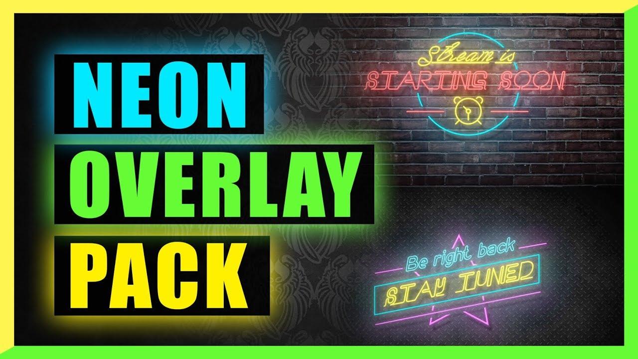 Twitch Animated Camera Overlay Streamer Neon