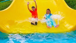 Али и Адриана веселятся в Аквапарке Дубай
