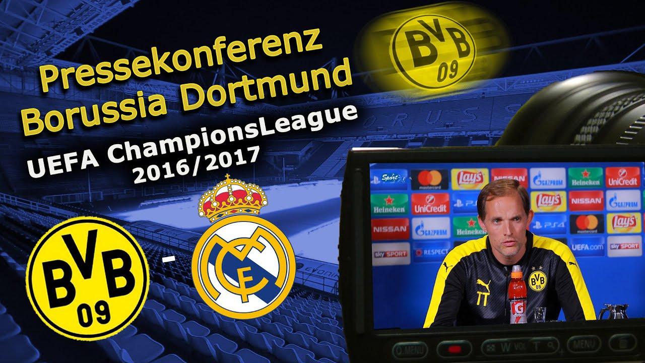 Borussia Dortmund - Real Madrid: Pk mit Roman Bürki und Thomas Tuchel