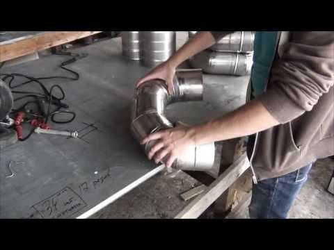 Stainless steel flue pipe production video. Akvilon.eu IZOKOMPAKT RENOFAST