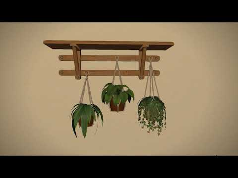 FFXIV: Hanging Planter Shelf - Housing Item
