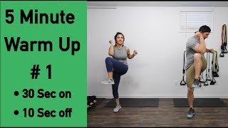 5 Minute Warm Up #1 Exercises