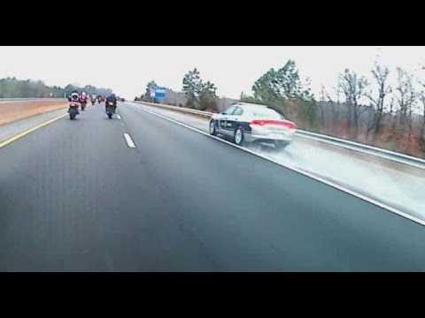 NC trooper caught on camera flying past motorcyclists