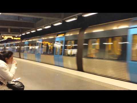 Stockholm underground train
