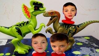 ЛЕГО ДИНОЗАВРЫ И РЫБЫ ПИРАНЬИ! LEGO Dinosaurs, jurassic park. Мультики для детей