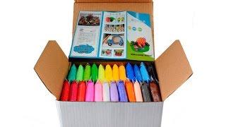 Детский нано пластилин | полимерная глина 24 цвета | Обзор набора для детского творчества