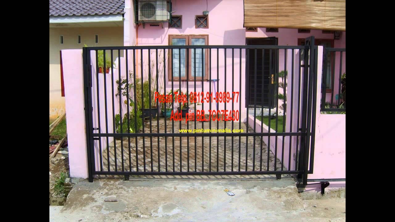 desain  pintu pagar  besi  minimalis YouTube