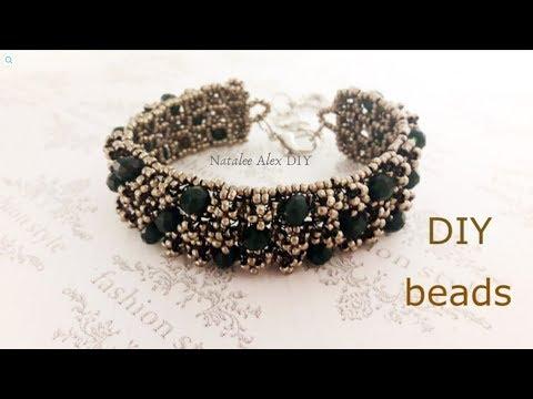 Винтажный браслет из бисера с шишечками. Vintage Bead Bracelet