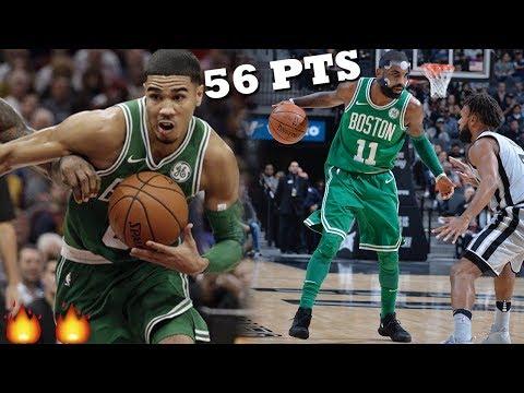Jayson Tatum & Kyrie Irving GO OFF For 56 PTS!! Ginobili INSANE Game Winner! Spurs vs Celtics!