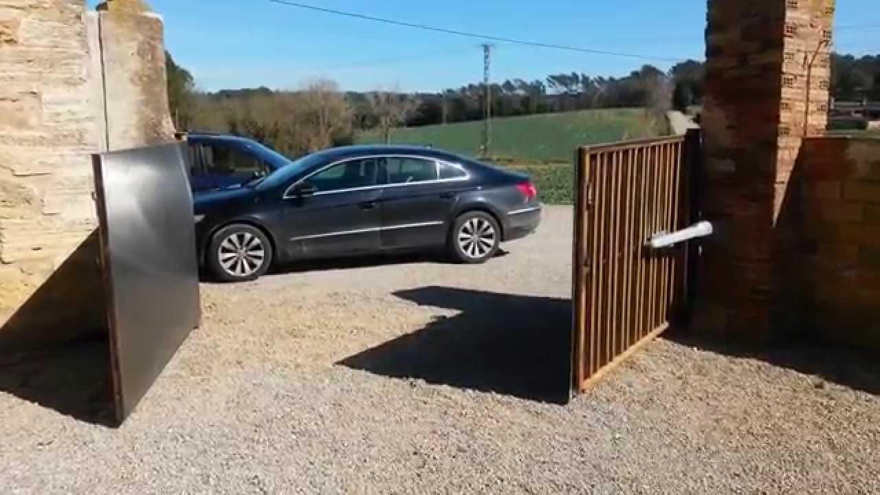Automatismo para puerta batiente de dos hojas youtube - Puertas de dos hojas ...