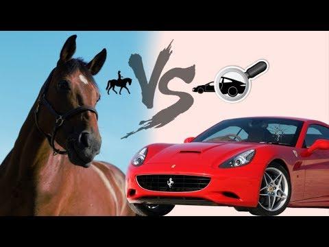 conduire une voiture vs monter a cheval youtube. Black Bedroom Furniture Sets. Home Design Ideas