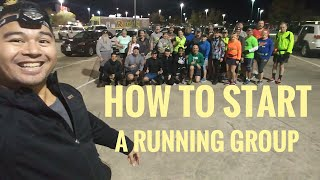 How to start a running group