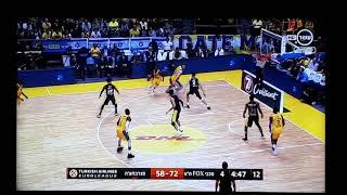 פייר גקסון בצעד וחצי וירטואזי במשחק של מכבי תל אביב מול פנרבחצה
