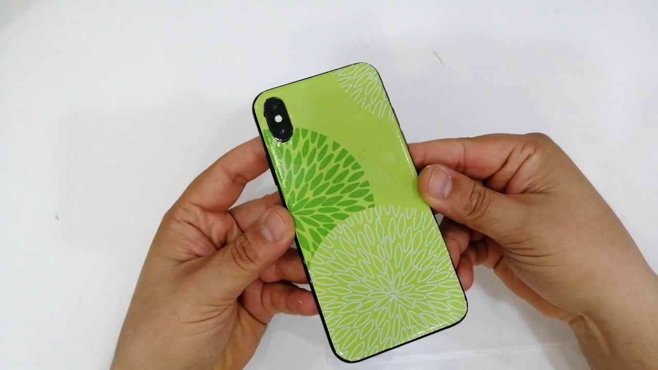 Iphone X Xs Xr Xs Max Converted in Green color lamination decorate trick 2019