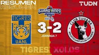 Resumen y goles | Tigres 3-2 Tijuana | Torneo Guard1anes 2021 BBVA MX - J7 | TUDN