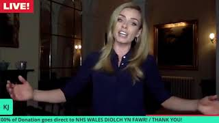 Katherine Jenkins performs a medley of Welsh songs at her home