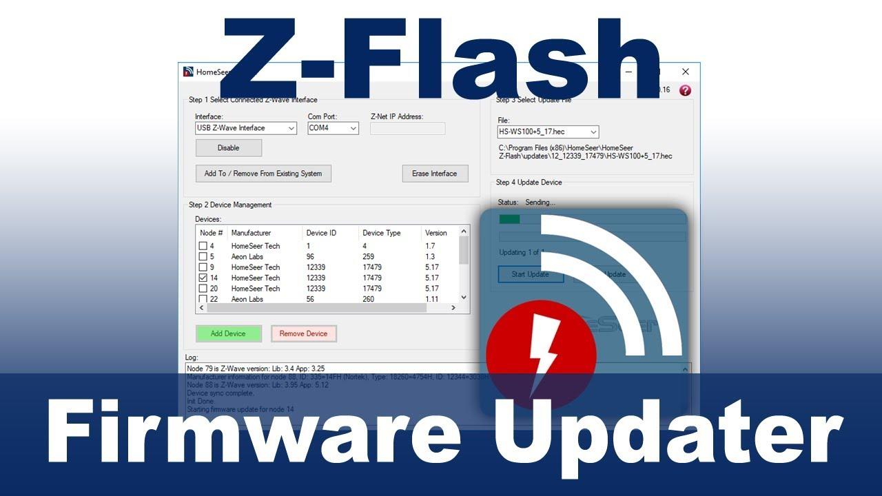 Z Flash Z-Wave OTA Firmware Updater