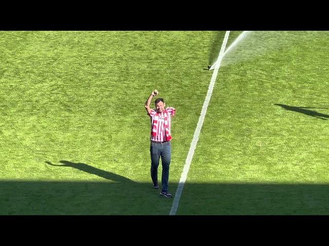CALCIO - Il ritorno di Julio Gonzalez allo stadio Menti: gli applausi dei suoi tifosi