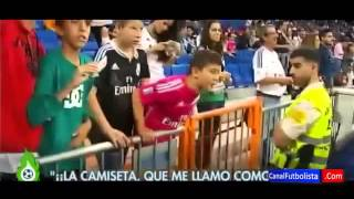 iker casillas ignored child during the real madrid vs athletic bilbao 5 0 2014
