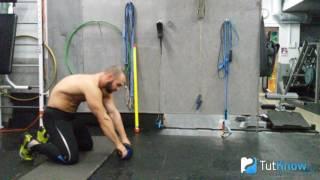 Упражнение с гимнастическим роликом