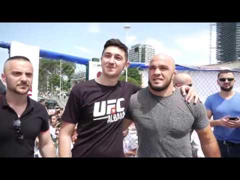 Ilir Latifi - Shqiptari i UFC takohet me fansat ne Tirane