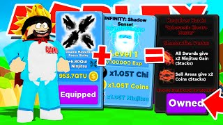 I GOT THE *BEST* SWORD AND UNLOCKED SHADOWFIRE ELEMENT TO DEFEAT SHADOW CALI IN ROBLOX NINJA LEGENDS