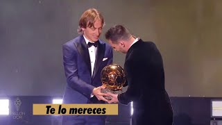 La Frase De Modric Cuando Entregó El Balón De Oro A Messi
