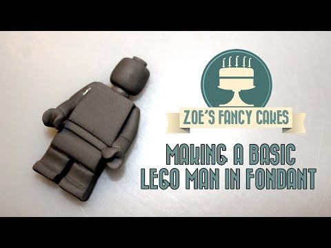 How To Make A Basic Lego Man In Fondant How To Tutorial