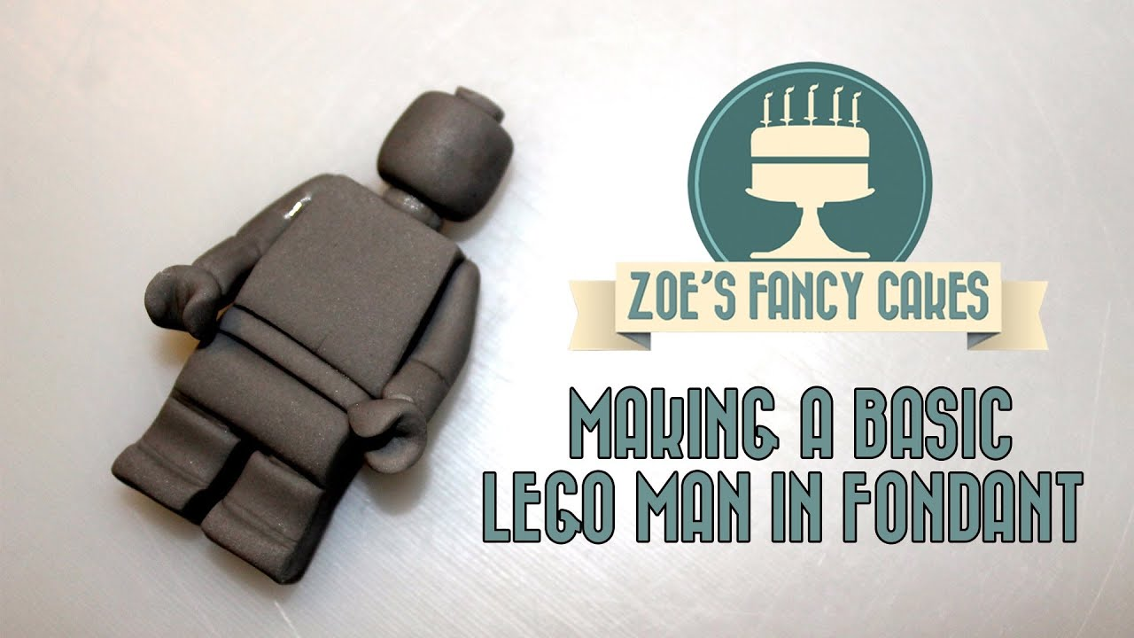 Fondant Lego Cake Topper Tutorial