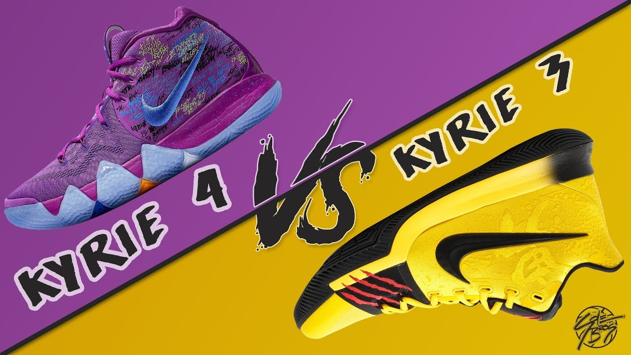 online store cbc7b 0d1f5 Nike Kyrie 4 vs Kyrie 3! Did the Kyrie Line Upgrade?!