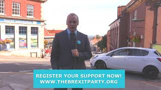 Chris Farmer Tewkesbury The BREXIT Party in Malvern 14/09/2019