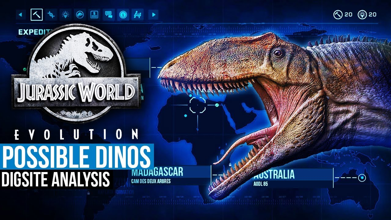 5 Possible Jurassic World Evolution Dinosaurs (Digsite Map Analysis ...