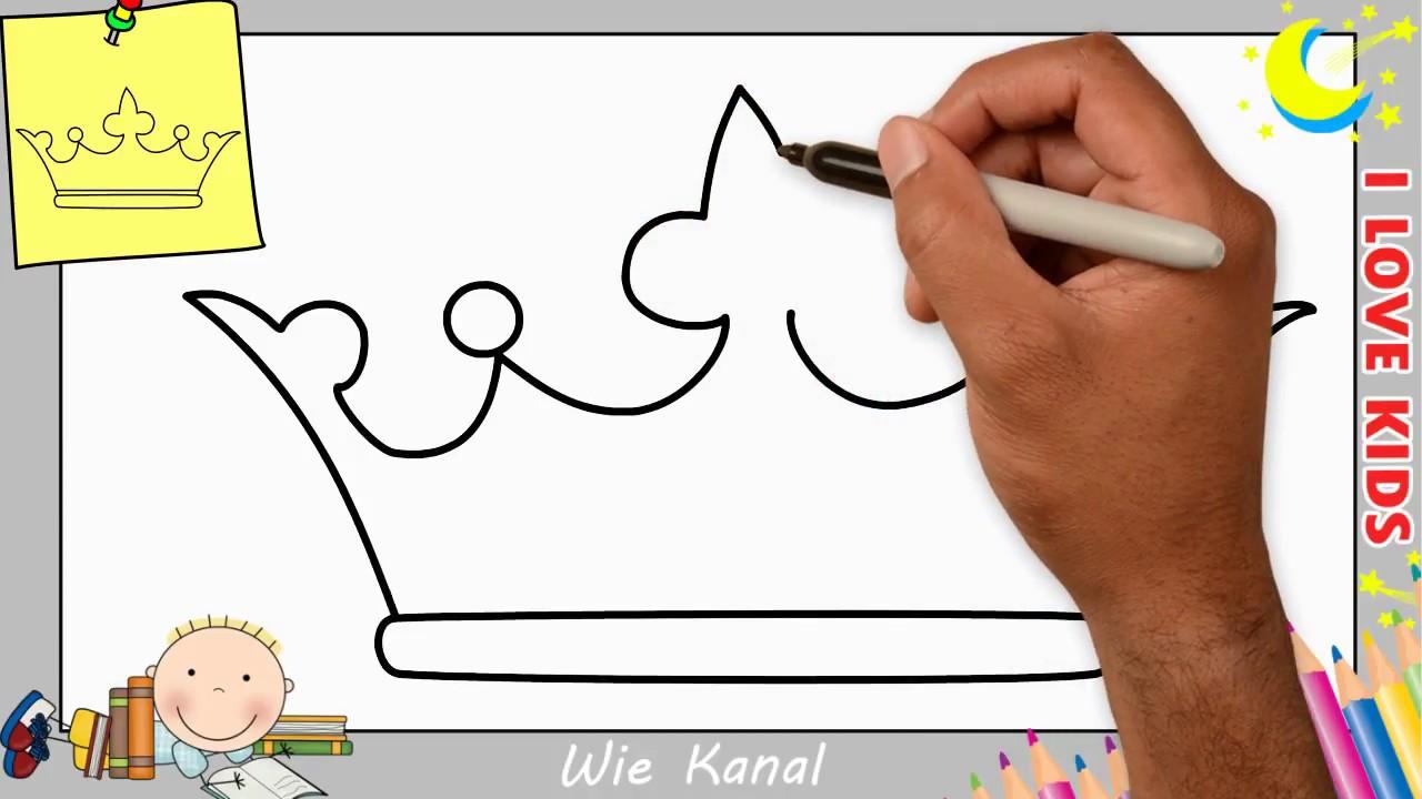 Krone Zeichnen Lernen Einfach Schritt Fur Schritt Fur Anfanger