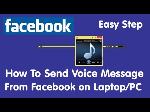 How To Send Voice Message From Facebook On Laptop Or PC Final II Record And Send Your Audio Message