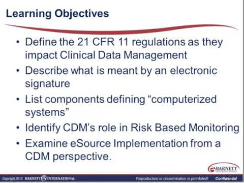 Data Management: Key Regulations Impacting the Role of the Clinical Data Manager Trailer