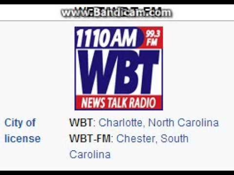WBT 1100 / WBT-FM 99 3 WBT Charlotte, NC/Chester, SC TOTH ID at 7:00 p m   7/20/2014
