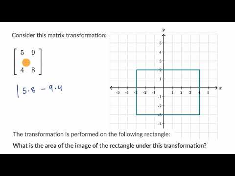 Finding area of figure after transformation using determinan
