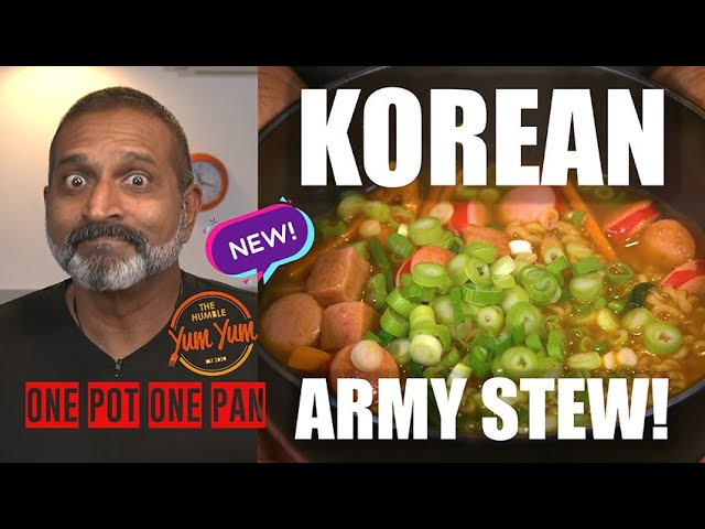 KOREAN ARMY STEW! Feed 4 for under $20! ONE POT - ONE PAN
