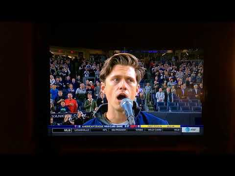 Aaron Tveit Sings the National Anthem