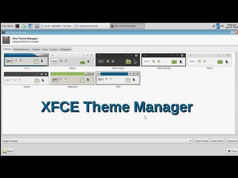 Checking out XFCE Theme Manager
