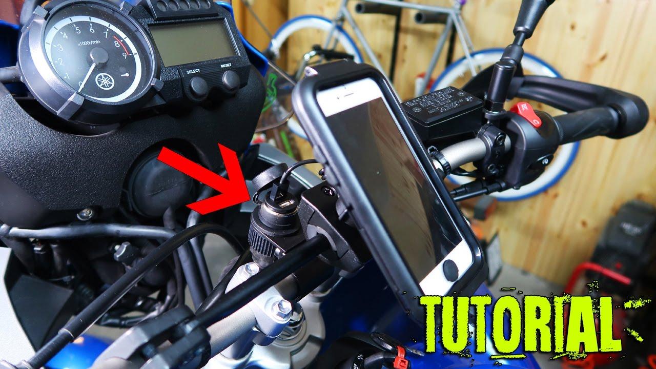 Come Installare Una Presa 12v Sulla Moto Youtube