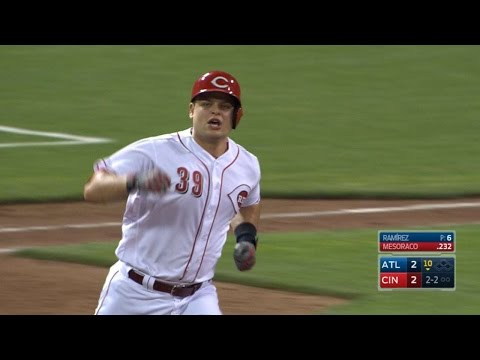 Mesoraco launches his first walk-off homer