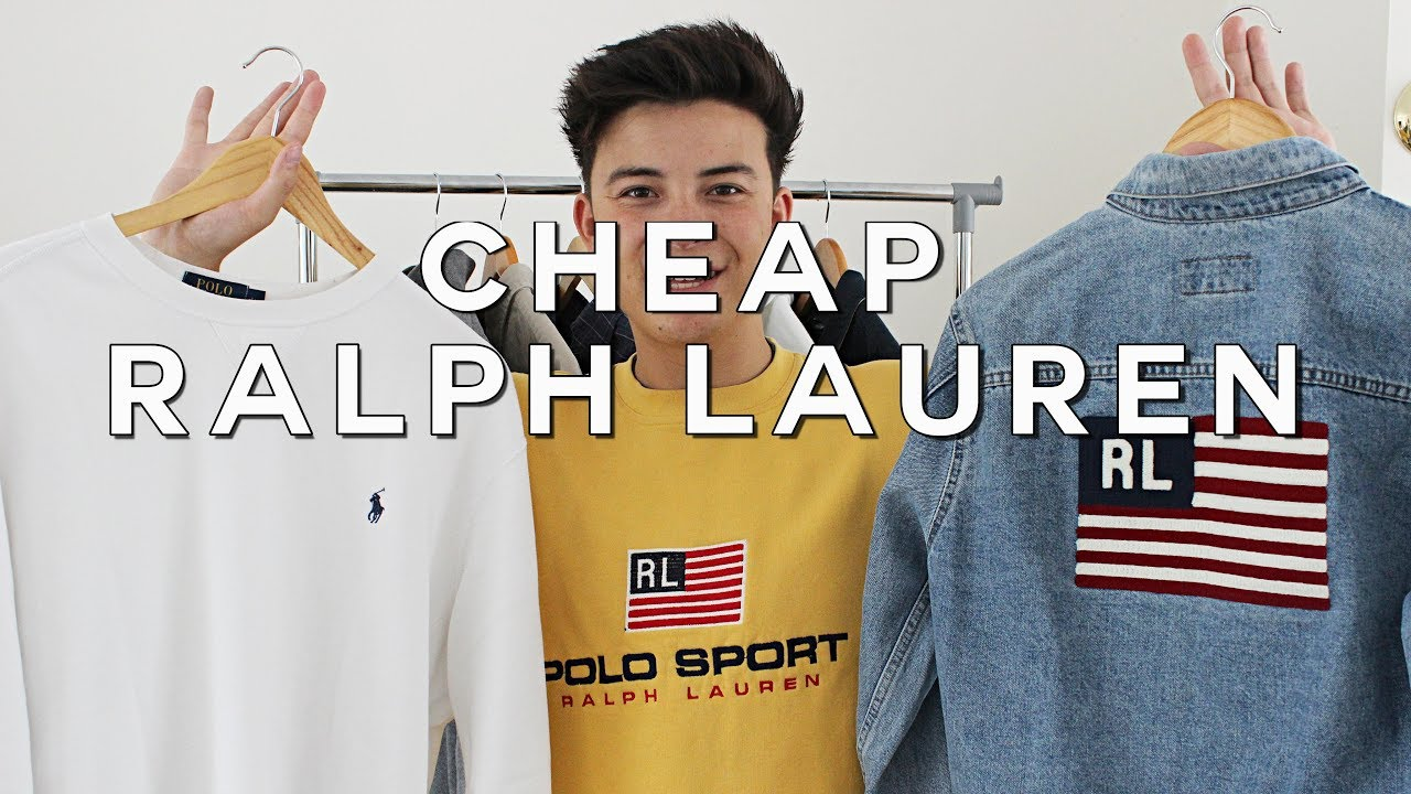 7f7ddfbb0 How to Get Vintage Ralph Lauren CHEAP - YouTube