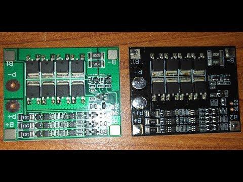 Продолжаю эксперименты с платой BMS 3S 25A.  Замена транзисторов