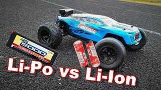 Li-Po VS Li-Ion Batteries - Arrma Fazon Voltage Speed Test - TheRcSaylors