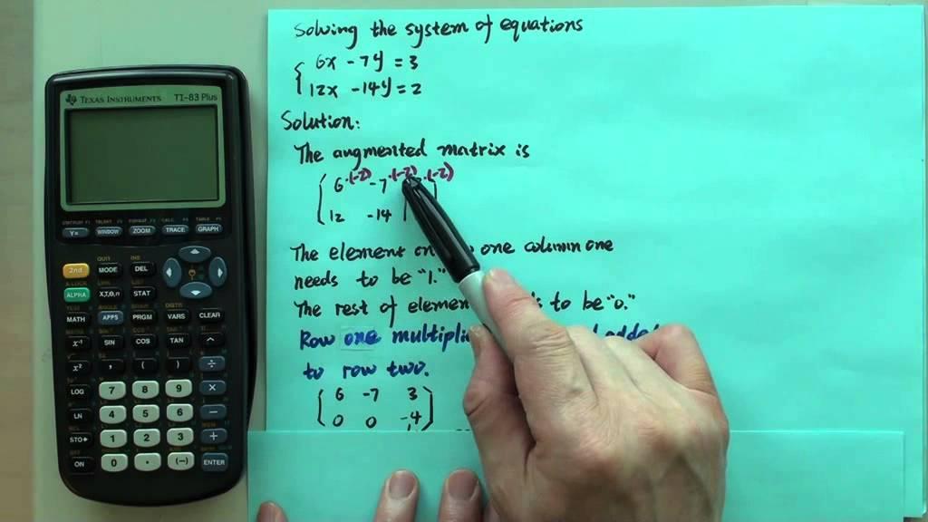 Gauss Jordan no solution - YouTube