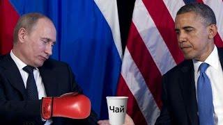 Путин и Обама - прикол (кружка чая)