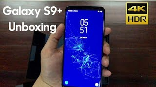 [ 4K ] samsung galaxy s9+ unboxing /128GB coral blue