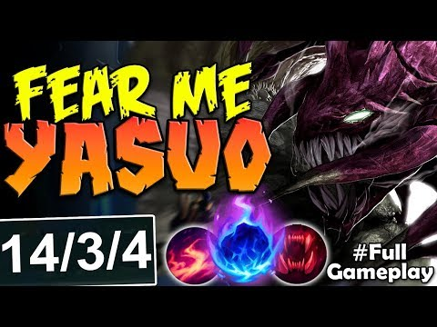FEAR ME YASUO CAUSE NOTHING WILL SAVE YOU   Cho'Gath vs Yasuo TOP   S8 Ranked Gameplay