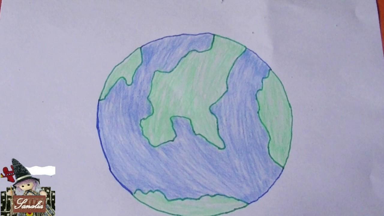 Como Dibujar El Mundo Youtube